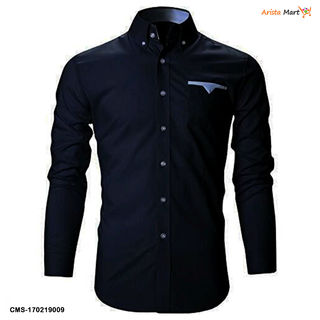 Men's Stylish Solid Cotton Slim Fit Shirts