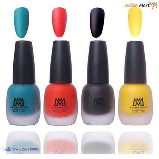Colorful Nail Polish Pack Of 4