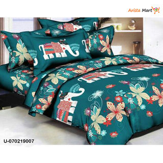 High quality Colorful Printed Polycotton Double Bedsheets