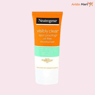 Neutrogena Visibly Clear Spot Proofing Oil Free Moisturizer.