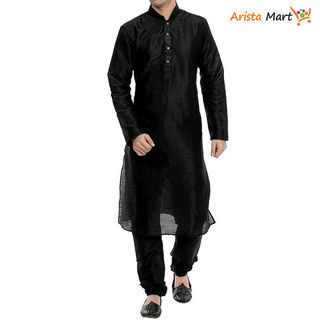 Designer Silk Solid Men's Kurta Sets